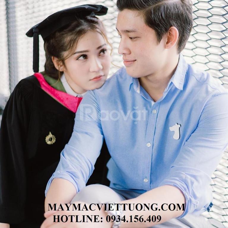 May áo thun đồng phục, áo gió, lễ phục tốt nghiệp top 1 ở HCM