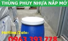 Thùng phuy nhựa 160L nắp mở, thùng phuy nhựa đựng nước sạch