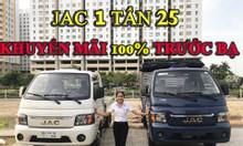 Xe tải Jac 990kg- 1t25-1t49 thùng lửng mui bạt kín