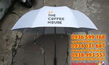 Cung cấp dù cầm tay loại lớn ở tphcm, ô dù che mưa in logo giá rẻ