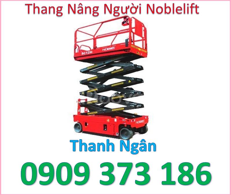 Xe thang nâng người 12m,xe thang nâng người 14m noblelift
