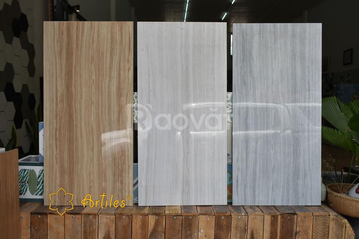 Gạch bóng kiếng lát nền 45x90 vân gỗ