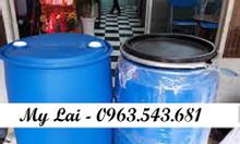 Thùng phuy nhựa 220 lít nắp hở, phuy đựng hóa chất 220 lít, phuy nhựa