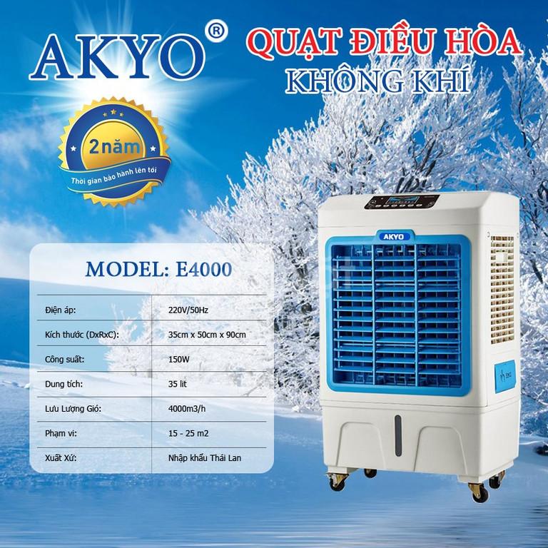 Quạt điều hòa Akyo E4000 Thái Lan công suất 150w làm mát nhanh