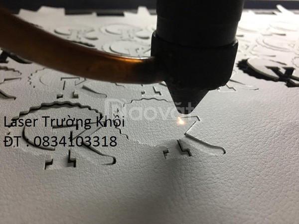 Cắt khắc laser da - giày dép - vải