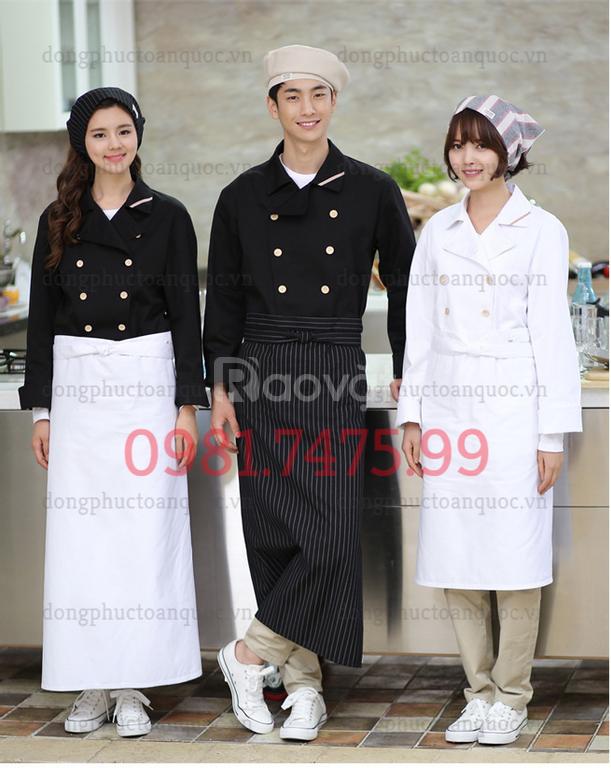 Xưởng may đồng phục đầu bếp mẫu mã đẹp, chất lượng tốt, giá cả hợp lý