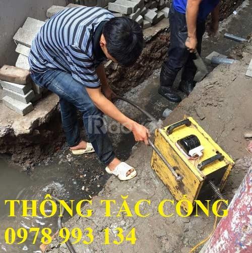 Thợ thông tắc nạo vét cống Hà Nội
