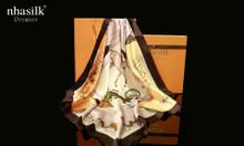 Khăn vuông lụa tơ tằm họa tiết nghệ thuật phục hưng