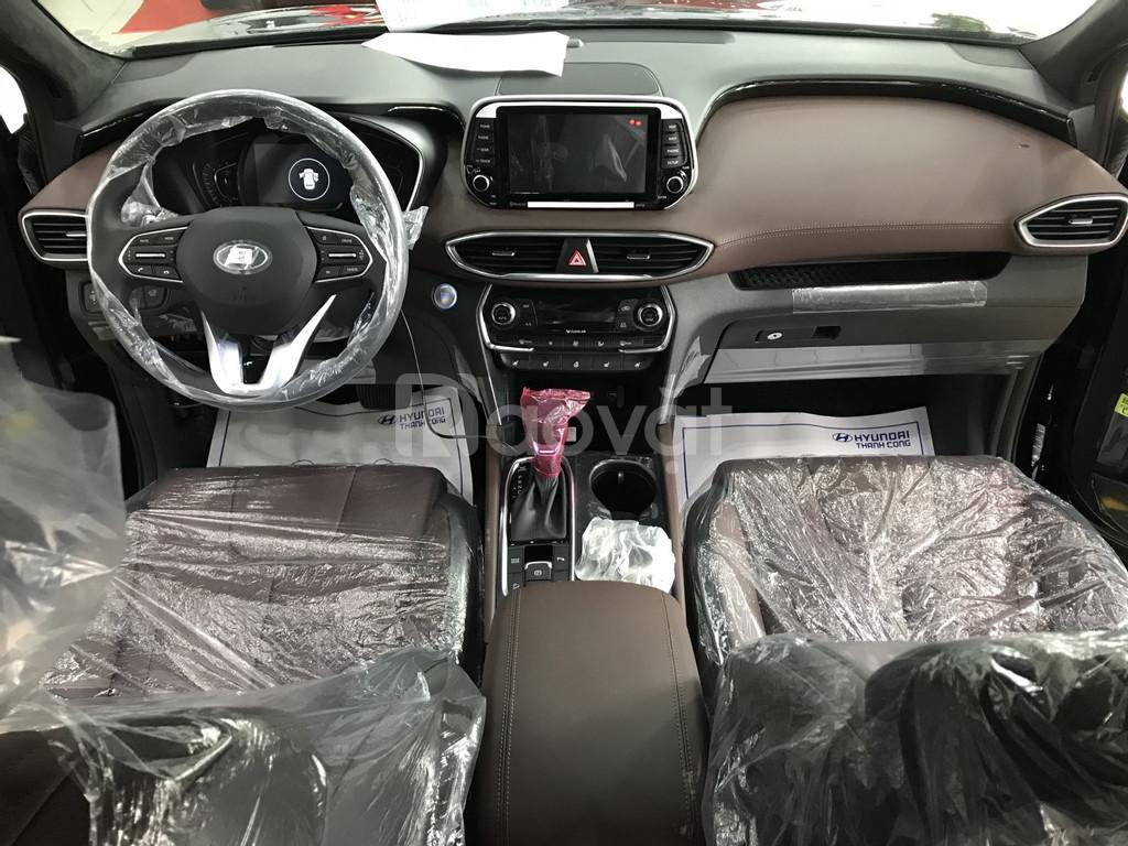 Hyundai SantaFe 2019, Premium Xăng/Dầu, màu đen giao ngay