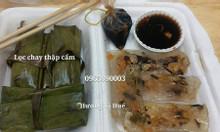 Bánh bột lọc chay - bánh nậm chay nhân nấm thập cẩm và nhân đậu xanh