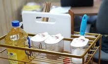 Giá để dao thớt nan dẹt mạ vàng Bosseu