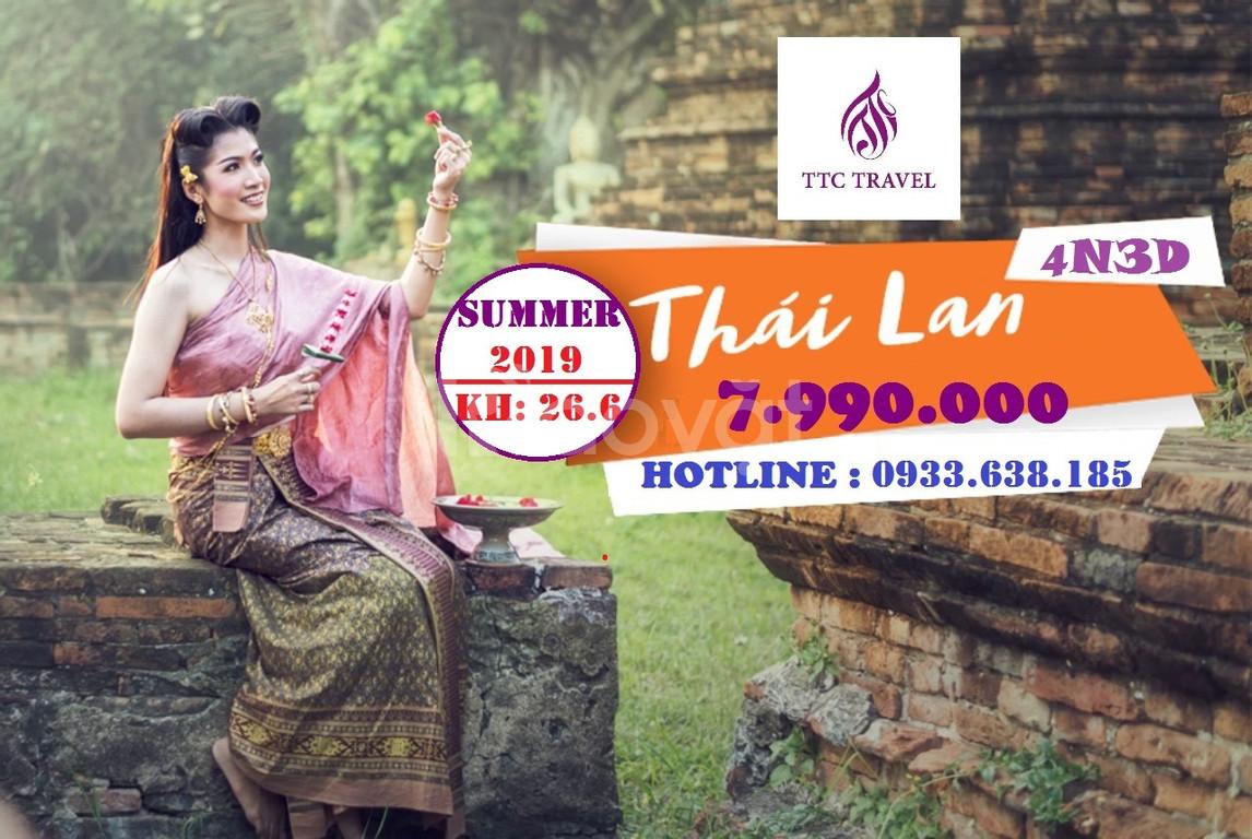 Tour du lịch Thái Lan chất lượng  (Bangkok-Pataya- đảo Coral ) 4n3đ
