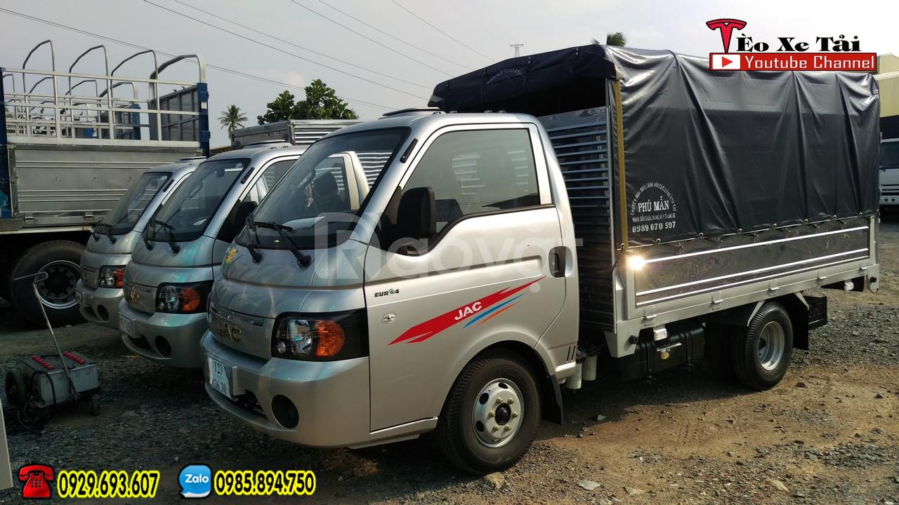 Xe tải nhỏ máy dầu   Jac 990kg máy dầu ga nhẹ - lái êm