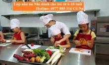 Khóa dạy nấu ăn cho trẻ em nhân dịp hè tại Đà Nẵng