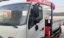 Bán xe tải Hino 3T5 gắn cẩu unic 3 tấn 4 khúc trả góp