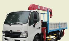 Xe tải Hino 3T5 gắn cẩu unic urv345 - 3T xzu730l trả góp tại Thủ Đức