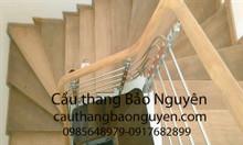 Bán tay vịn lan can cầu thang gỗ lim châu Phi giá rẻ