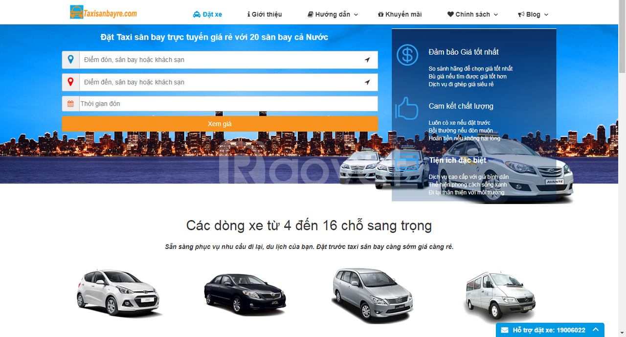 Đặt taxi sân bay Tân Sơn Nhất giá rẻ