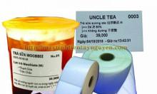 Chuyên bán giấy in tem trà sữa giá rẻ tại Nha Trang