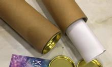 Bán ống giấy tuber đựng tranh có nắp sắt 2 đầu kim loại