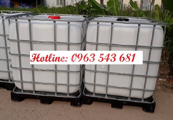Thùng nhựa đựng thực phẩm 1000 lít, tank nhựa 1000 lít giá rẻ HCM
