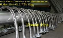 Mối nối ống mềm công nghiệp dẫn xăng dầu, khớp nối mềm inox 304