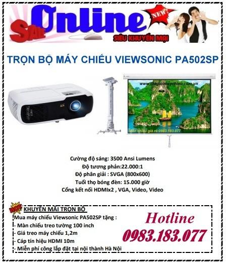 Trọn bộ máy chiếu Viewsonic PA502SP