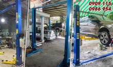 Cầu nâng ô tô 2 trụ giằng dưới sửa chữa xe ô tô giá rẻ