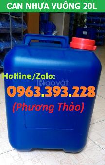 Kho sỉ can nhựa vuông 20L đựng hóa chất giá tốt tại Hà Nội