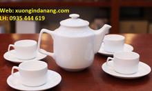 Dịch vụ in logo công ty lên bộ ấm trà tại Đà Nẵng