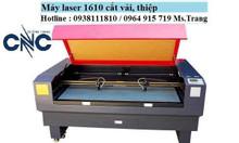 Máy laser cắt khắc gỗ, máy laser 1610 2 đầu cắt vải