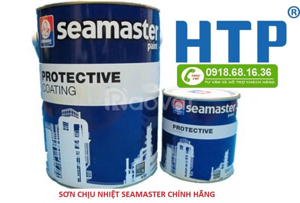 Sơn chịu nhiệt seamaster 600 độ lon 1l chính hãng tại quận Tân Bình