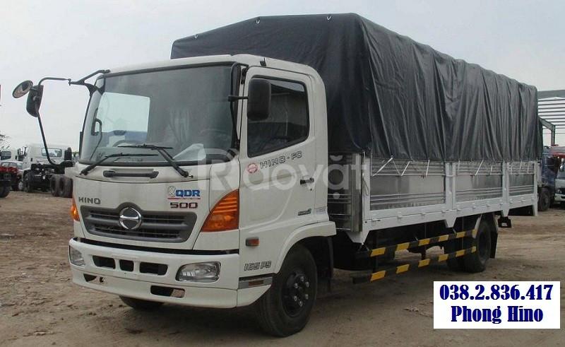 Xe tải Hino 9.5 tấn - 9T5 thùng mui bạt trả góp
