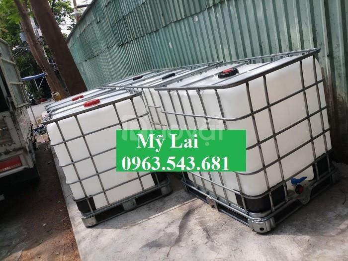 Bồn nhựa 1000 lít giá rẻ, thùng nhựa 1000 lít đựng hóa chất giá rẻ (ảnh 2)