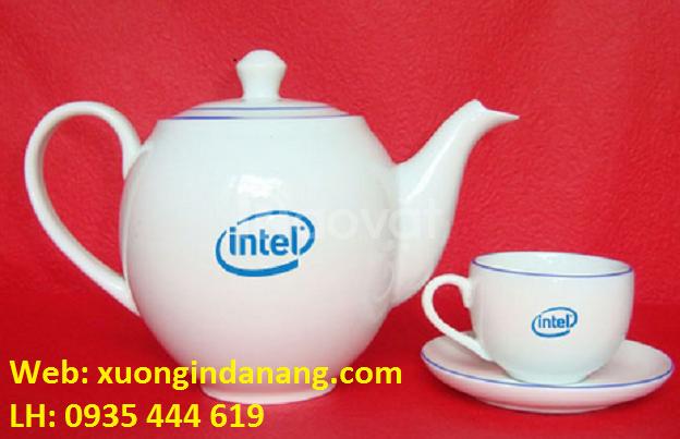 Xưởng in logo lên ấm trà giá rẻ tại Đà Nẵng