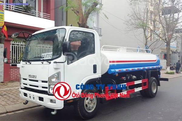 Xe rửa đường tưới cây Isuzu 8 khối