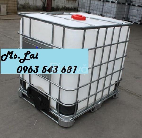 Bồn nhựa 1000 lít giá rẻ, thùng nhựa 1000 lít đựng hóa chất giá rẻ (ảnh 1)