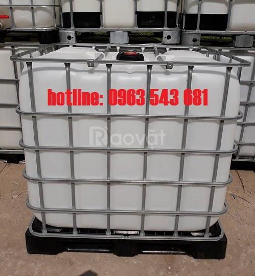 Bồn nhựa 1000 lít giá rẻ, thùng nhựa 1000 lít đựng hóa chất giá rẻ (ảnh 3)