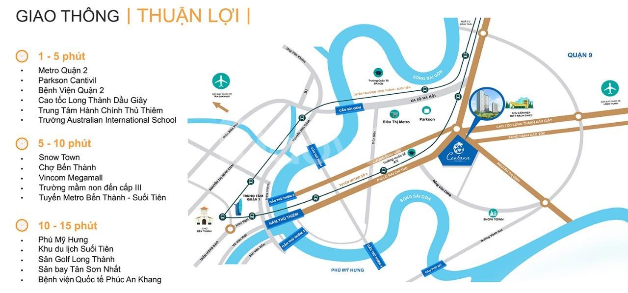 Cho thuê gấp officetel Centana Thủ Thiêm Quận 2, 2PN 55m2 giá chỉ 10tr