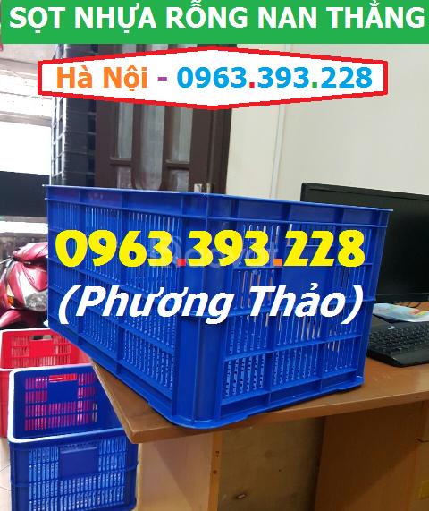 Sóng nhựa hở nan thẳng, sọt nhựa rỗng nan thẳng giá tốt tại Hà Nội