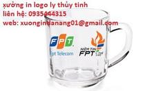 Sản xuất ly thủy tinh in logo ly thủy tinh tai Quảng Ngãi