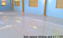 Mua sơn Epoxy kháng axit tự phẳng ET5500 màu RAL7035 cho bê tông