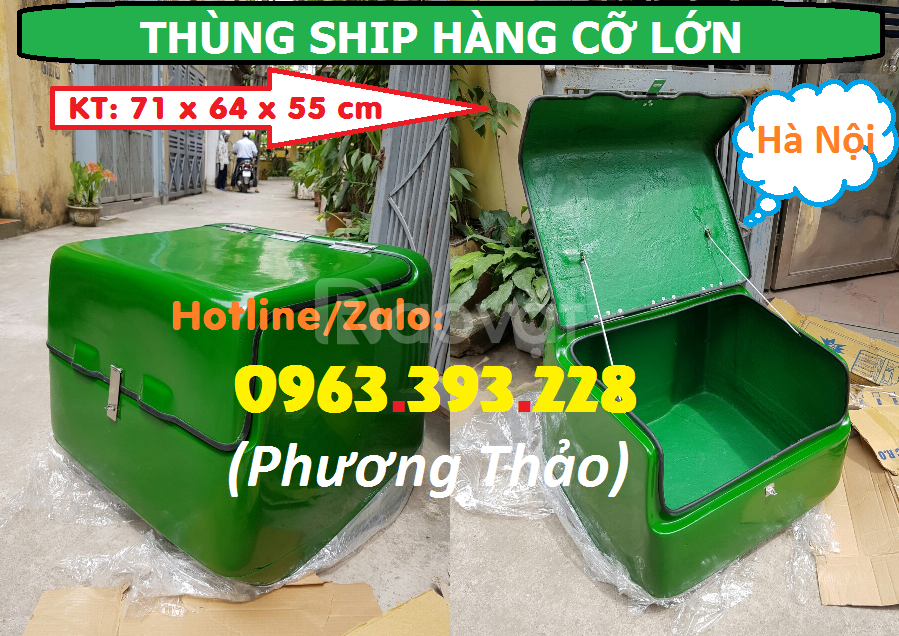 Thùng chở hàng, thùng giao hàng, thùng ship hàng cao cấp tại Hà Nội