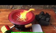 Hướng dẫn mồi than nhanh chỉ 1 phút 30s bằng bếp than Dế mèn