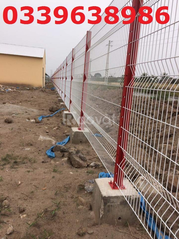 Lưới thép hàng rào mạ kẽm, lưới hàn sơn tĩnh điện