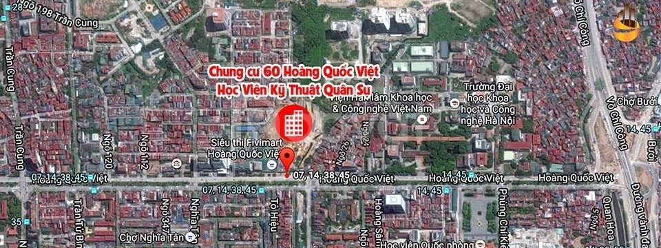 Cho thuê căn hộ chung cư MHDI, 60 Hoàng Quốc Việt, 3PN,chỉ 10 triệu/t