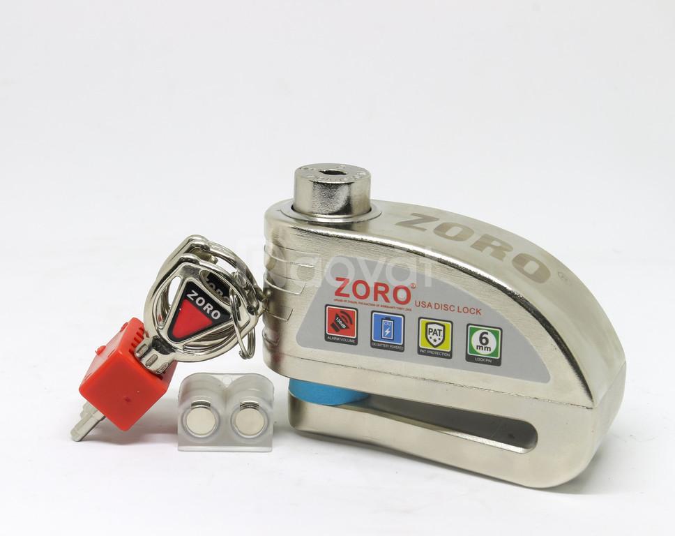 Khoá đĩa xe máy Zoro báo động chống trộm