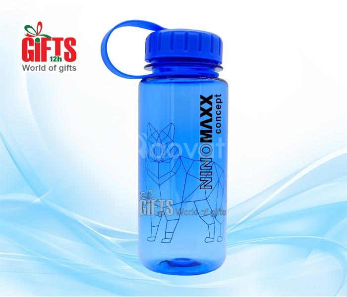 Quà tặng doanh nghiệp -Bình nước quà tặng in logo - Quà 12h