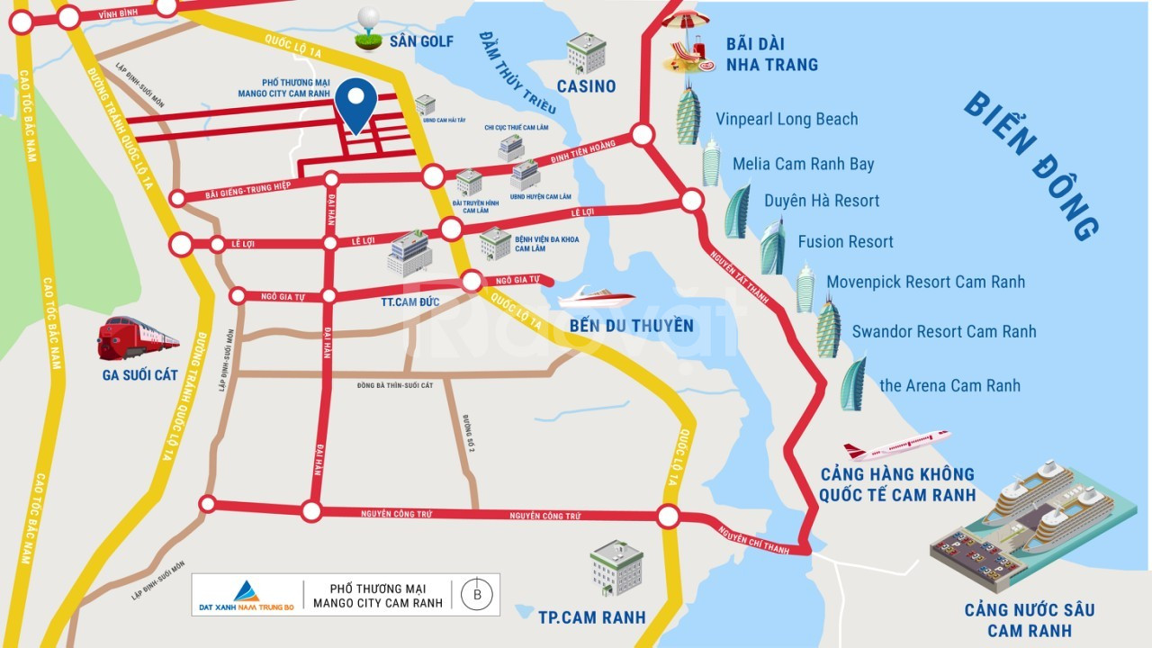 Đất nền sổ đỏ Bãi Dài Cam Ranh chỉ 999 triệu/nền