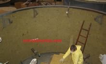 Cuộn bông Rockwool chống nóng lò nung loại trơn